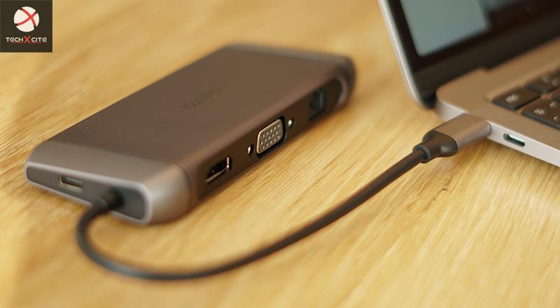 CHOETECH 9 in 1 USB-C Multiport Adapter อแดปเตอร์ครอบจักรวาล 4