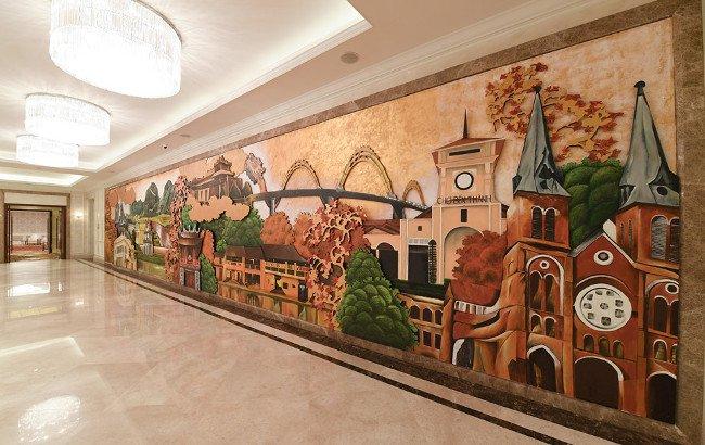 Bức tranh 3D được thiết kế đặc biệt, giới thiệu những hình ảnh đặc trưng của các vùng đất Việt Nam từ bắc chí nam
