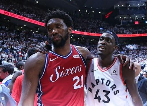 Image result for joel embiid and pascal siakam""