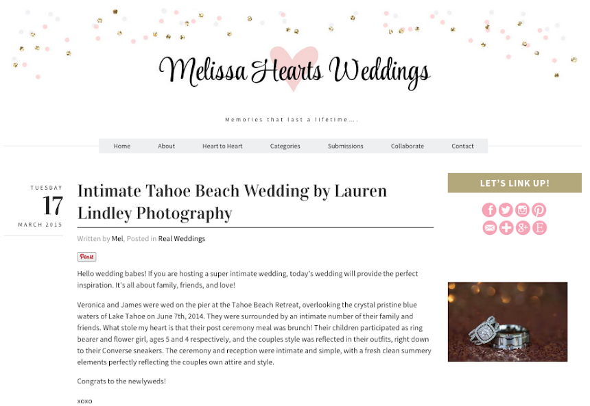 Tahoe Beach weddings