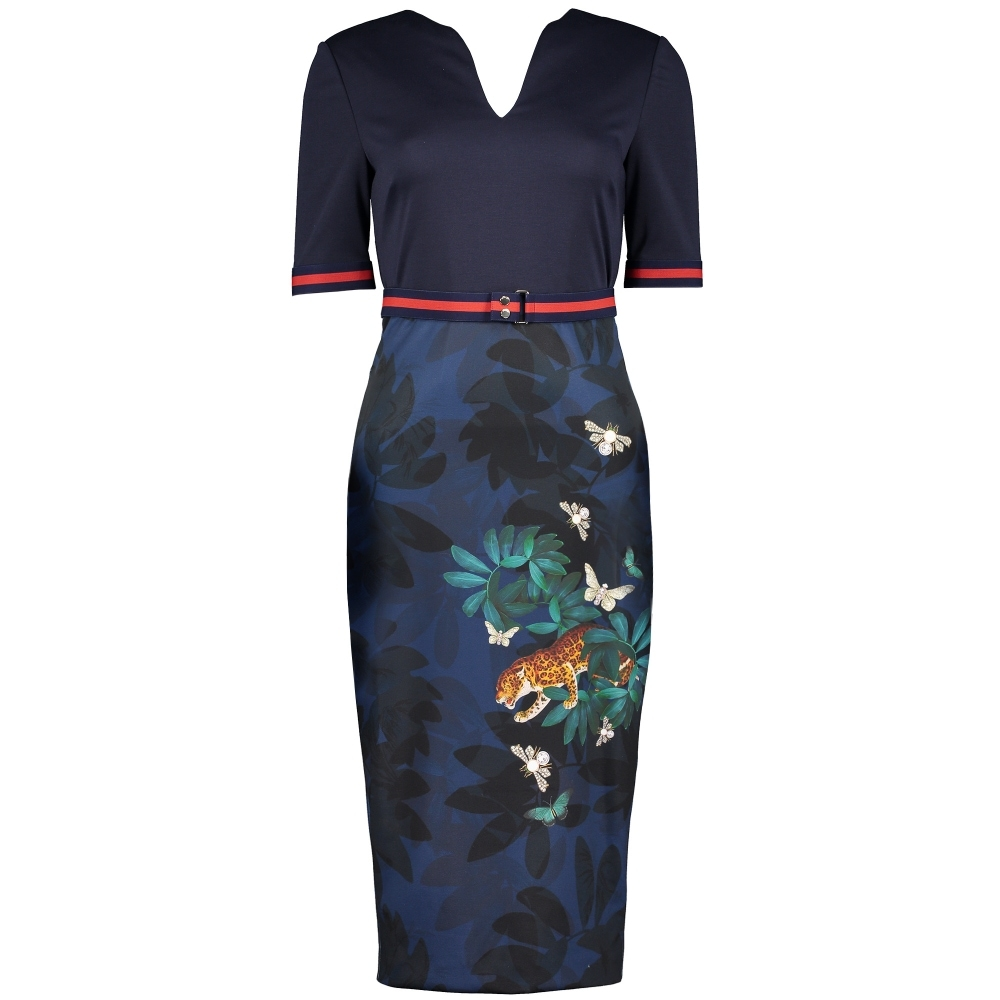 TED BAKER Yalila Houdini Print Bodycon Dress