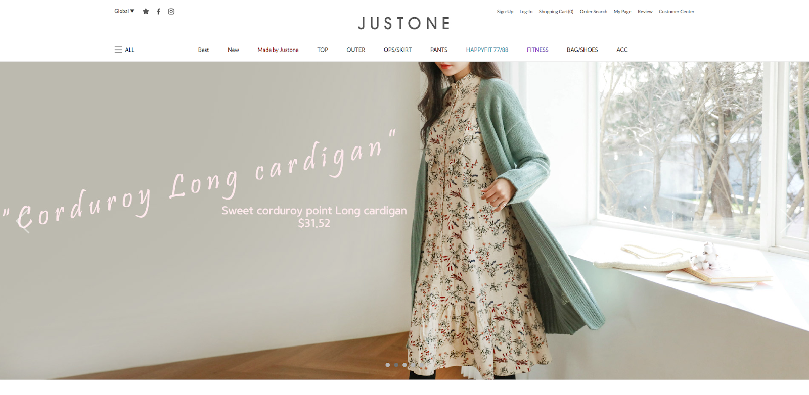 justone online shopping clothes fashion