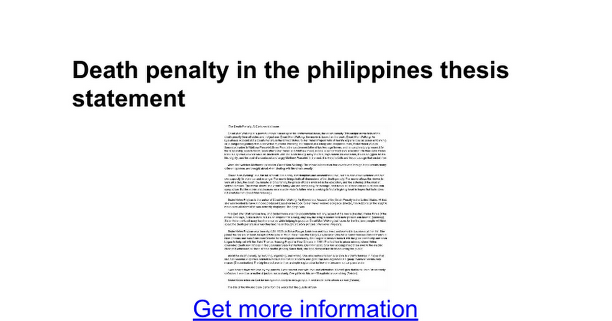 Anti death penalty thesis statements term paper service
