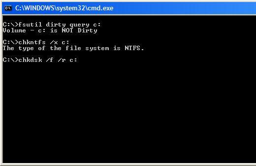 Image result for chkdsk commands