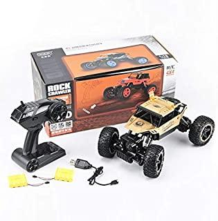 RC Car, VASLON Remote Control Monster Truck, 2.4Ghz 4WD Off Road Rock Crawler Vehicle, 1:16 All Terrain Rechargeable Electric Toy with Two Rechargeable Batteries for Boys & Girls Gifts