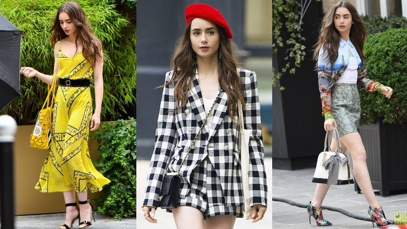 lily collins diện style très-chic