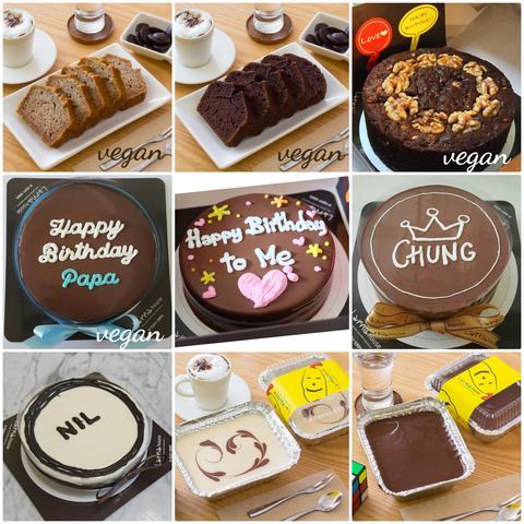Vegan cake birthday chocolate cake เค้กหน้านิ่ม larnahouse ส่งได้ทั่วประเทศ ร้านดังในกรุงเทพ ส่งต่างจังหวัดได้แล้ว
