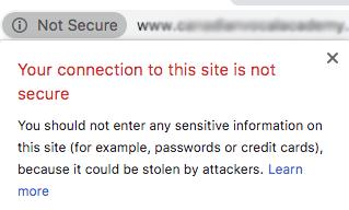 Cảnh báo không an toàn trên Chrome nếu trang web của bạn không có chứng chỉ SSL