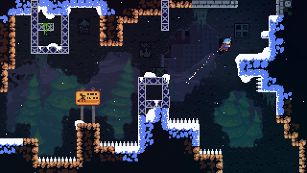 Screenshot of an early stage of Celeste