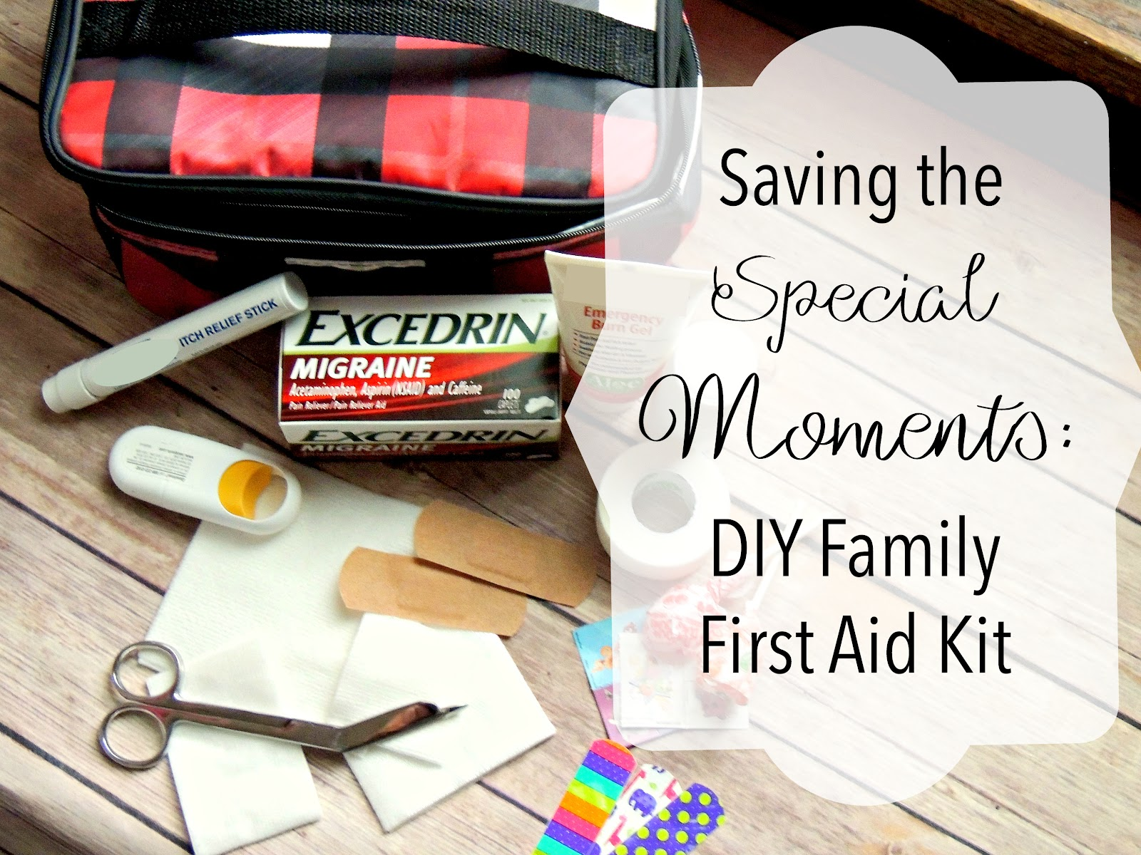 Saving the Special Moments DIY Family First Aid Kit Excedrin® Migraine First Aid Kit for the Family #MoreMomentsWithExcedrin #CollectiveBias #ad .jpg