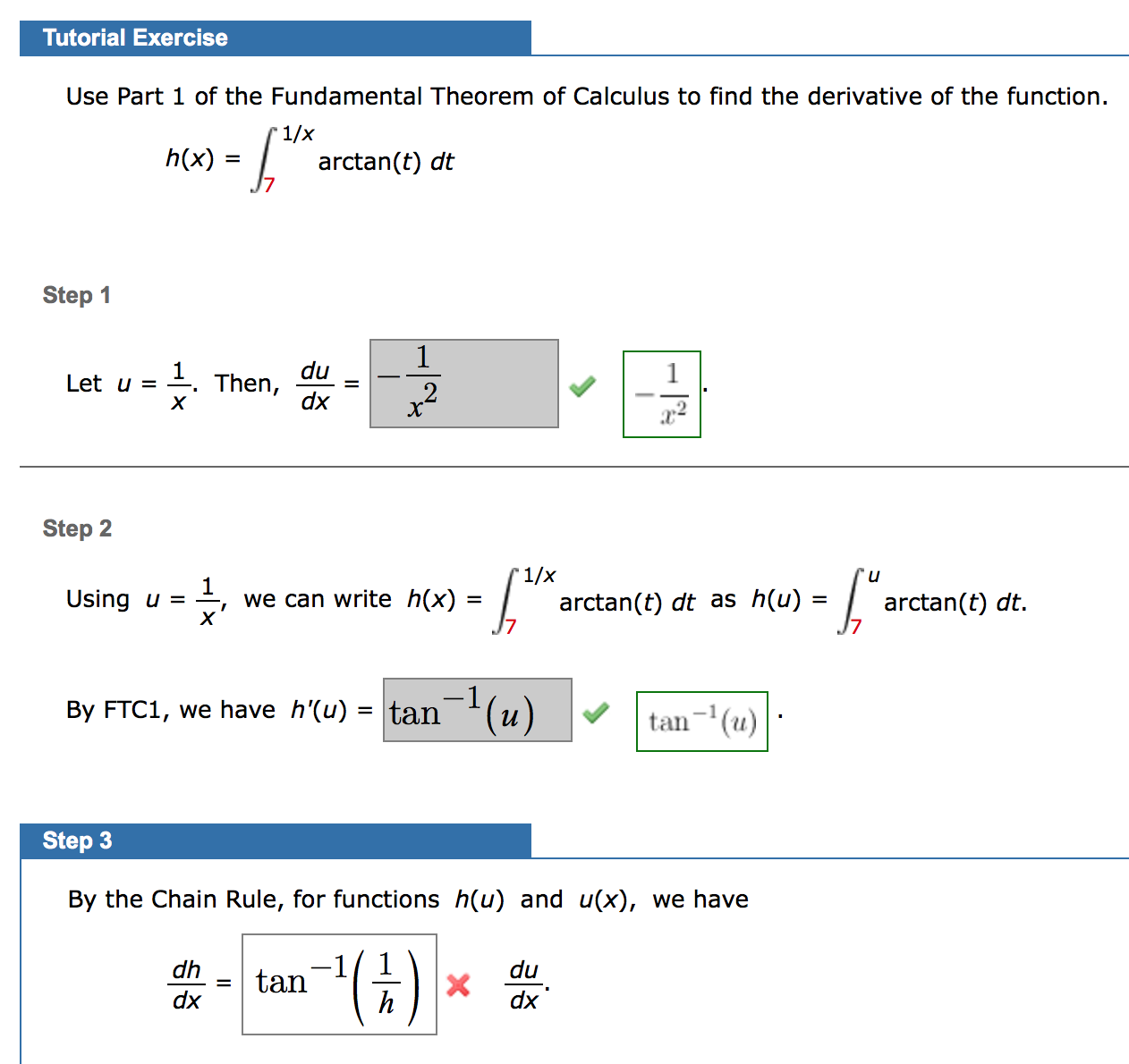 Solved: Use Part 1 Of The Fundamental Theorem Of Calculus