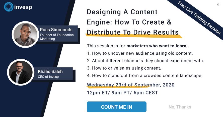 b2b marketing strategies webinar marketing example