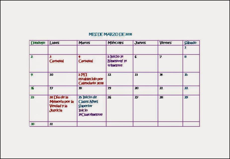Calendario Fisico.Actividad Fisica Calendario