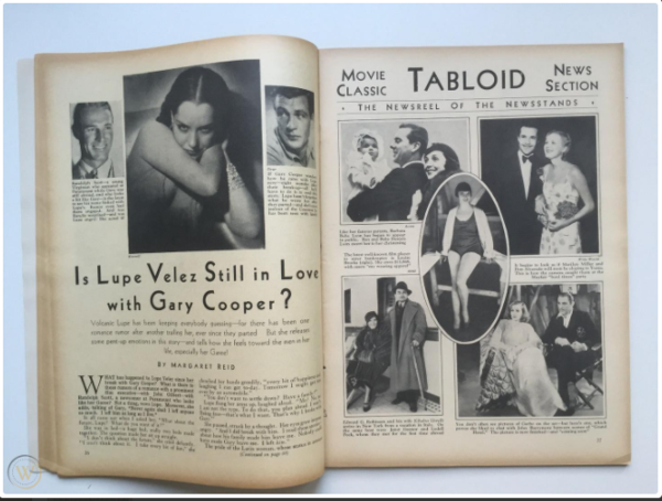 Tabloid coverage of Lupe Velez