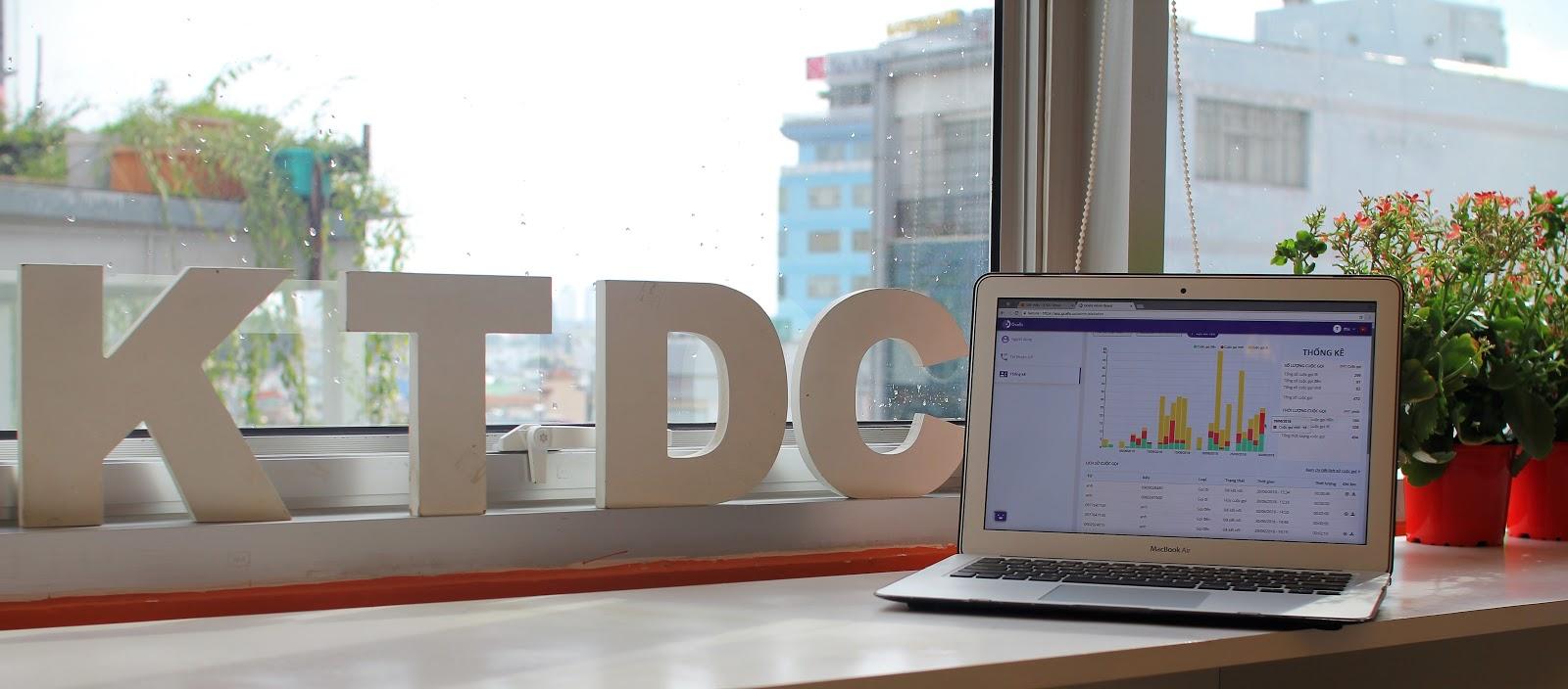 hình 2 - giao diện Thống kê của trang Admin tài khoản ở KTDC