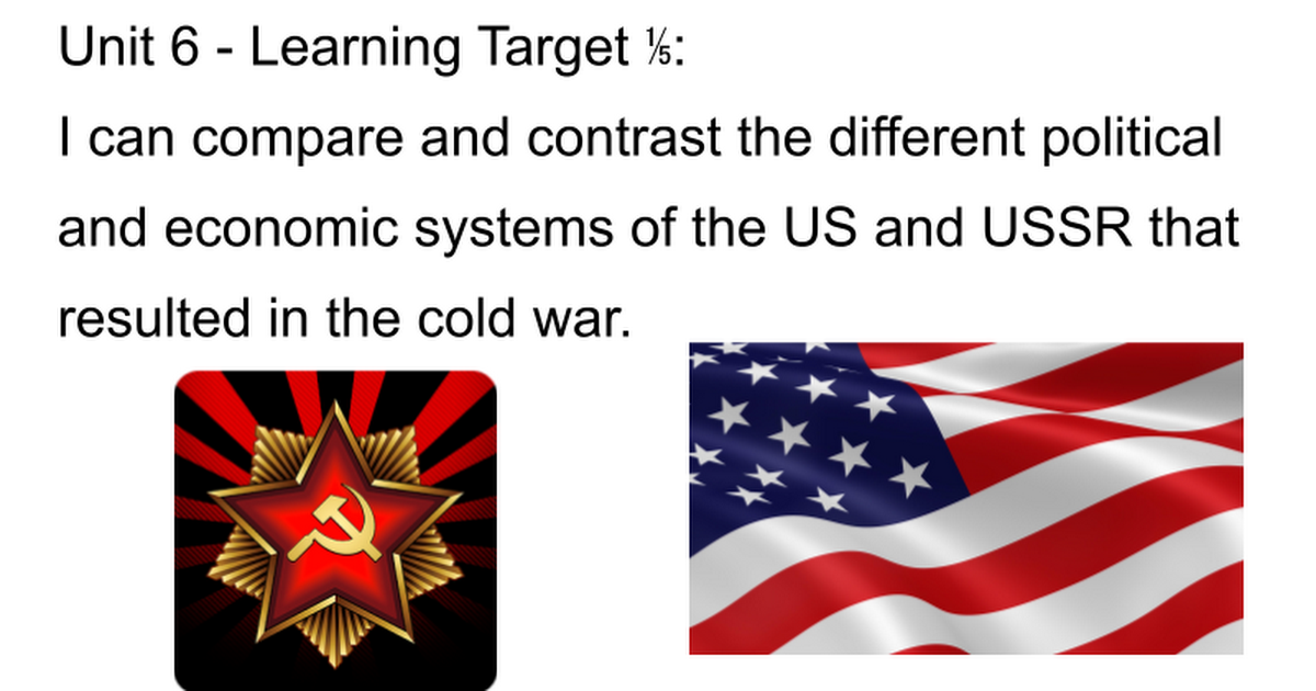 comparing the political and economic changes in the us and ussr after wwii Following the surrender of nazi germany in may 1945 near the close of world war ii, the uneasy wartime alliance between the united states and great britain on the one hand and the soviet union on the other began to unravel.
