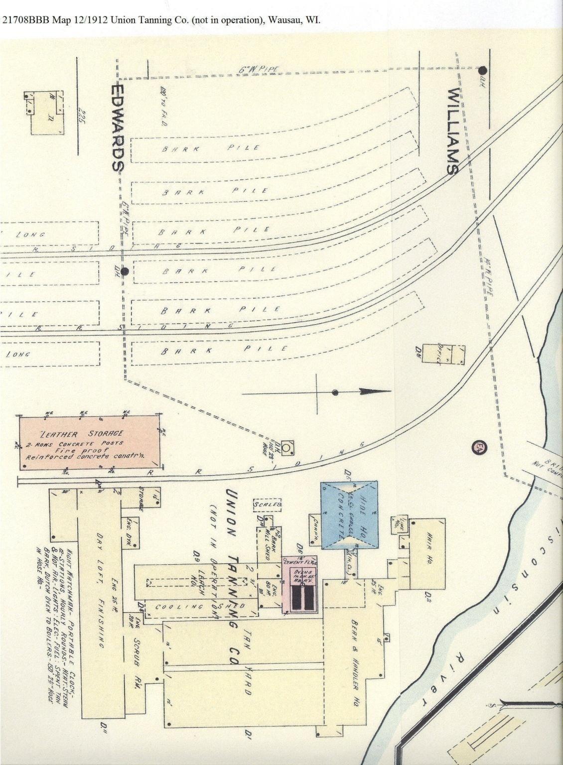C:\Users\Robert P. Rusch\Desktop\II. RLHSoc\Documents & Photos-Scanned\Rib Lake History 21700-21799\21708BBB Map 12-1912 Union Tanning Co, Wausau, WI.jpg