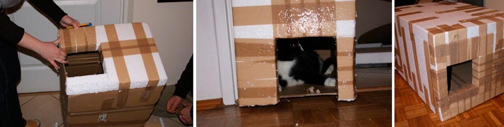 Домик для кошки с утеплителем своими руками