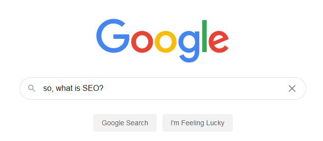 Google search for SEO
