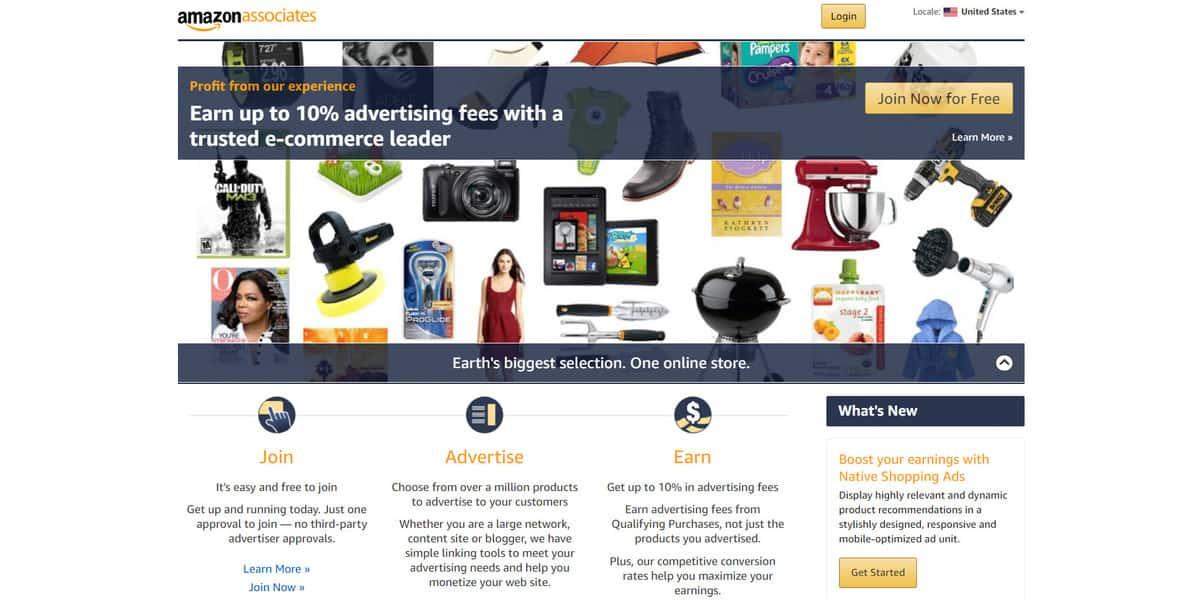 Afiliados Amazon em como ganhar dinheiro com blog