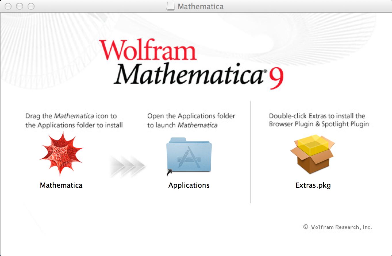 Mac Mathematica Install Window