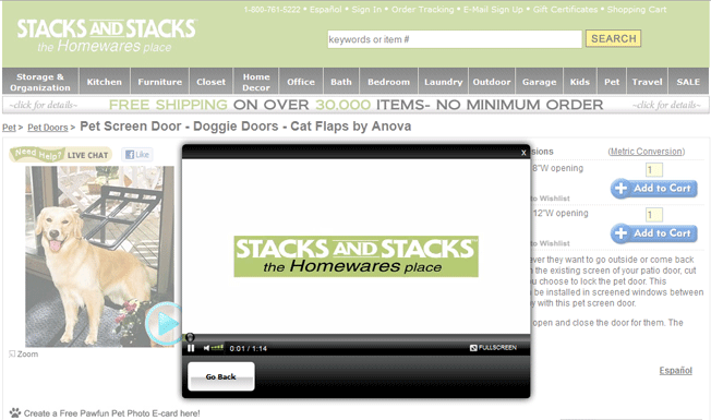 Stacks and stacks homepage example