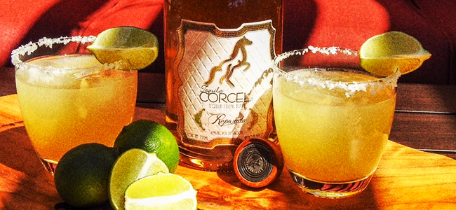 Glass of Tequila Corcel Margarita feat. Reposado by Tequila Corecel