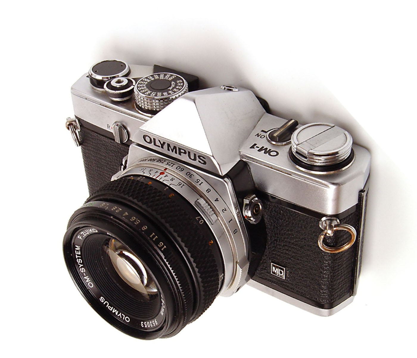 A photo of the Olympus OM-1 35mm camera