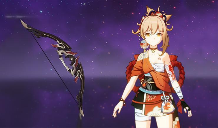 Karena sama-sama mengandalkan Normal ATK, Yoimiya juga cocok menggunakan Rust seperti Childe.