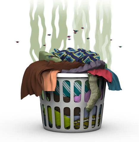 Pre-soak dirty & stinky clothes