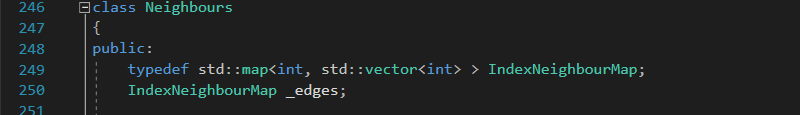 Implementing Neighbour Class in C++