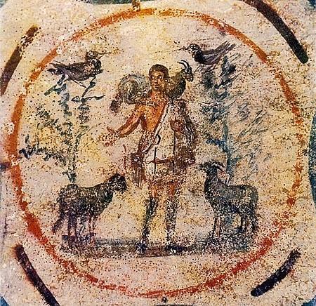 Resultado de imagem para arte paleocristã pintura