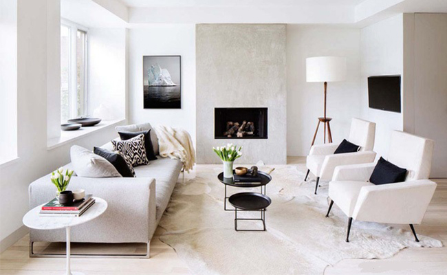 Phân chia bố cục rõ ràng để trang trí phòng khách nhà ống nhỏ dễ dàng hơn.