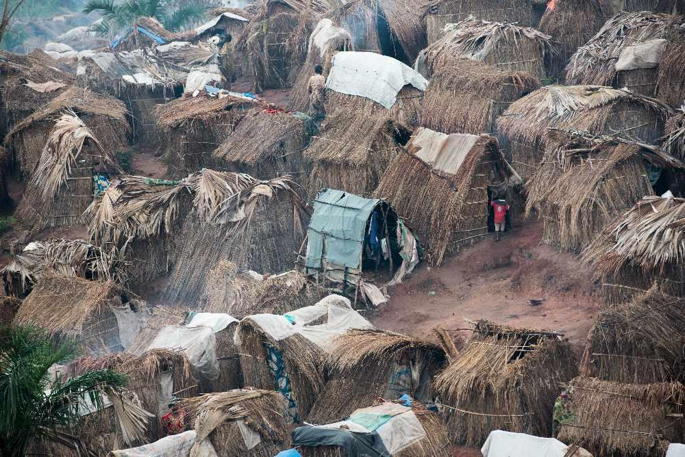 Camp for displaced people
