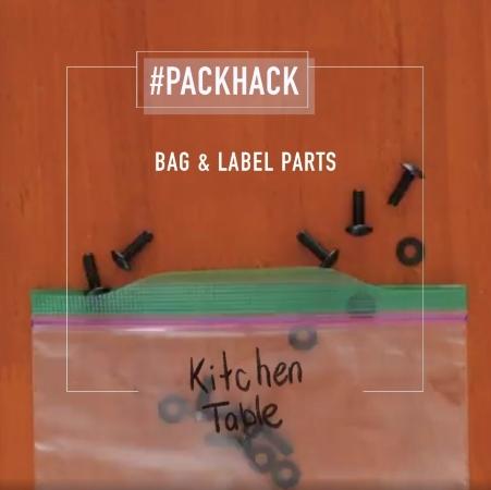 #packhack - bag & label parts