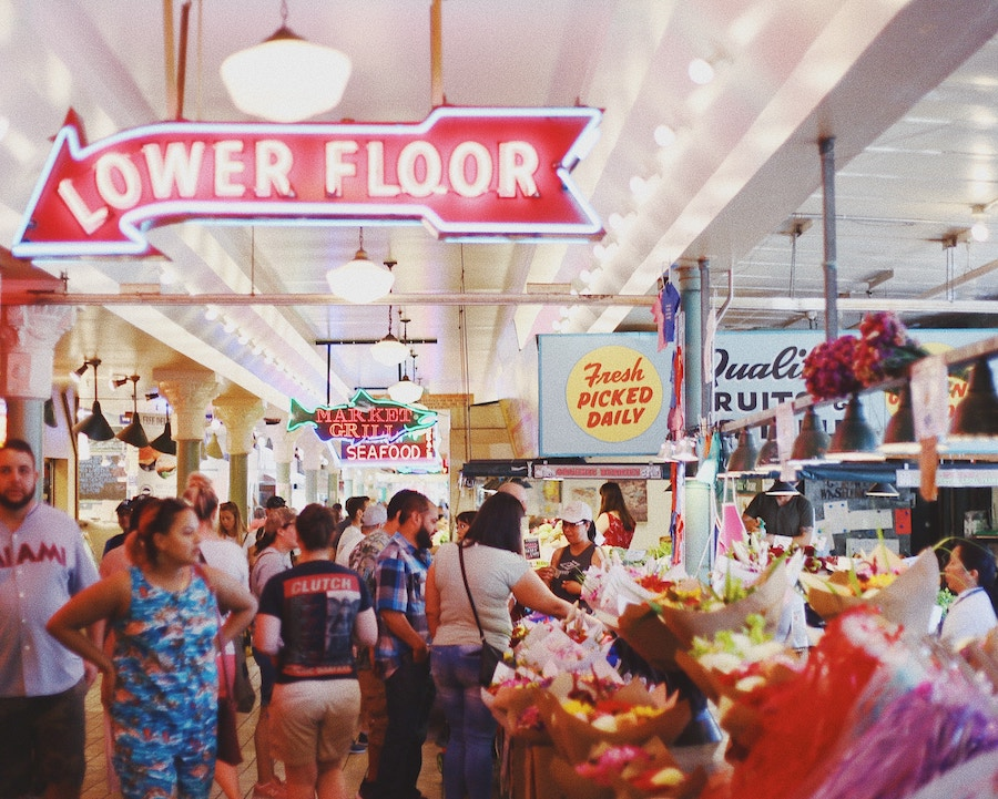 Interior of Florida's top farmer's markets