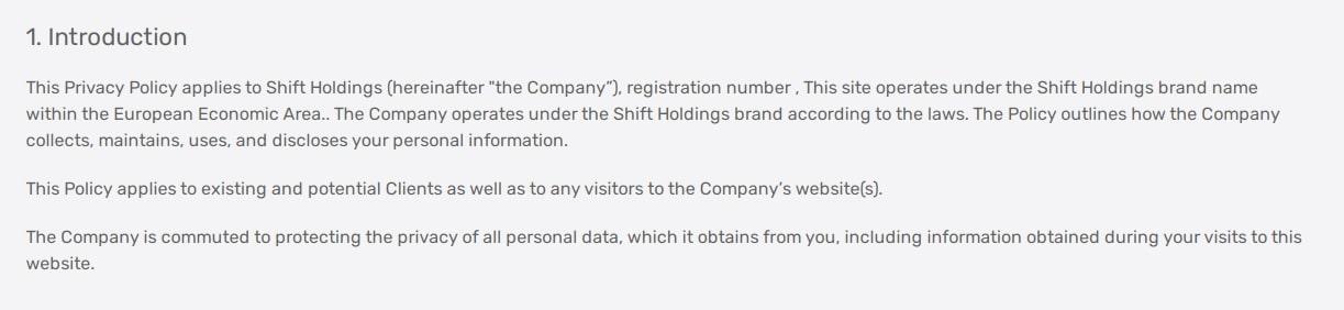 Обзор форекс-брокера Shift Holdings: анализ торговых предложений и отзывы клиентов