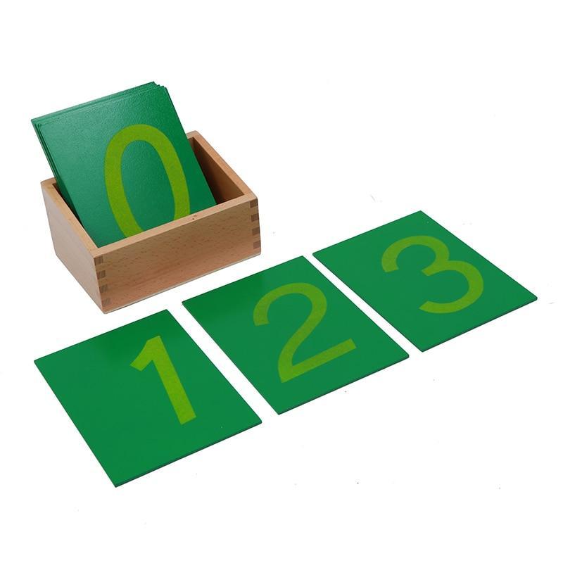 chiffres rugueux activité montessori tracer au doigt