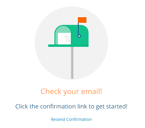 uShare email confirmation