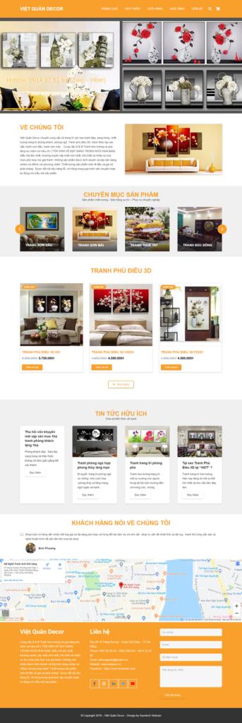 Website thương mại điện tử bán hàng tranh trang trí