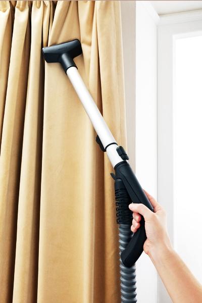Vacuuming Drapes
