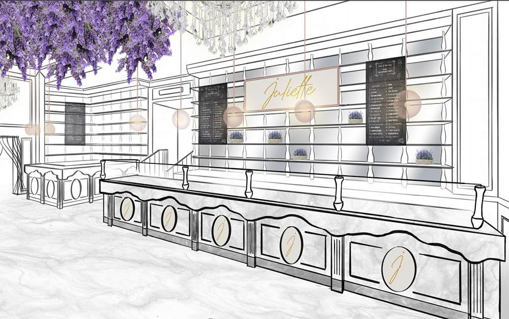 Juliette is a new Provencal Rosé bar for Harrods (with pithiviers and patisserie too)