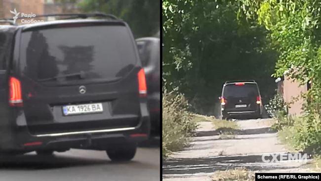 Там же, в Гребінках, ще у вересні посеред робочого дня журналісти зауважили той же Mercedes на тих же номерах прикриття, що і під ЖК на Печерську