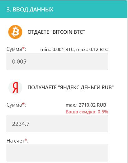 Обмен Bitcoin на Рубли