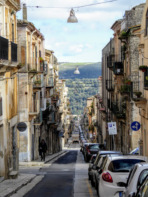 Ragusa, Sicily in the winter (February)