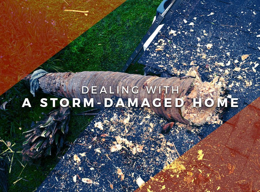 Storm-Damaged Home