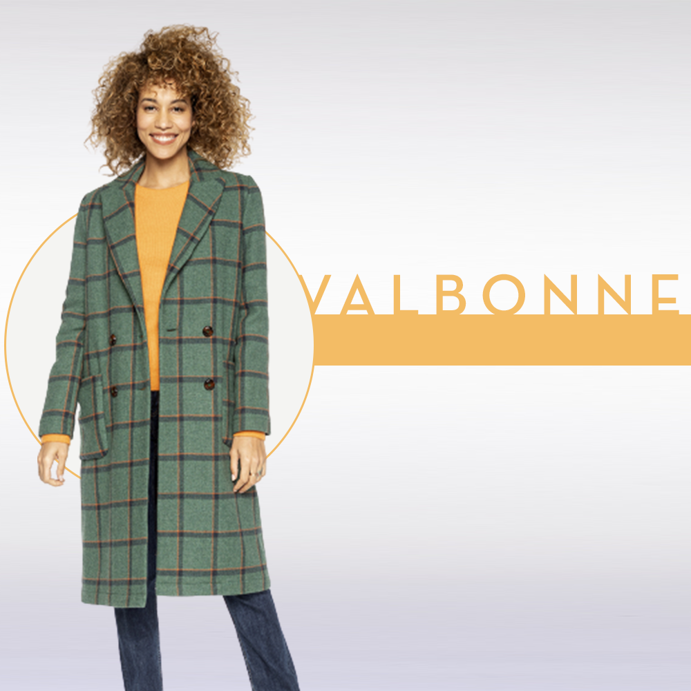 Manteau à carreaux VALBONNE