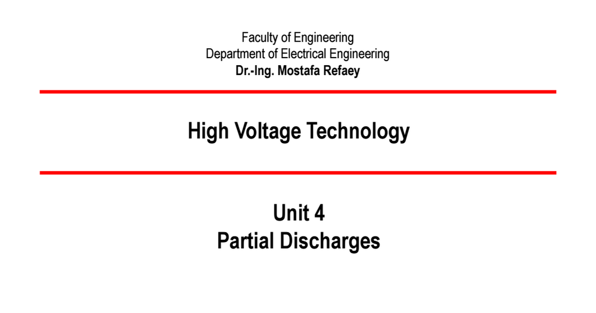 ph.d thesis on partial discharge In this work partial discharge (pd) measurements have been considered for insulation condition assessment of distribution system components such as overhead covered conductors (ccs) and cables.