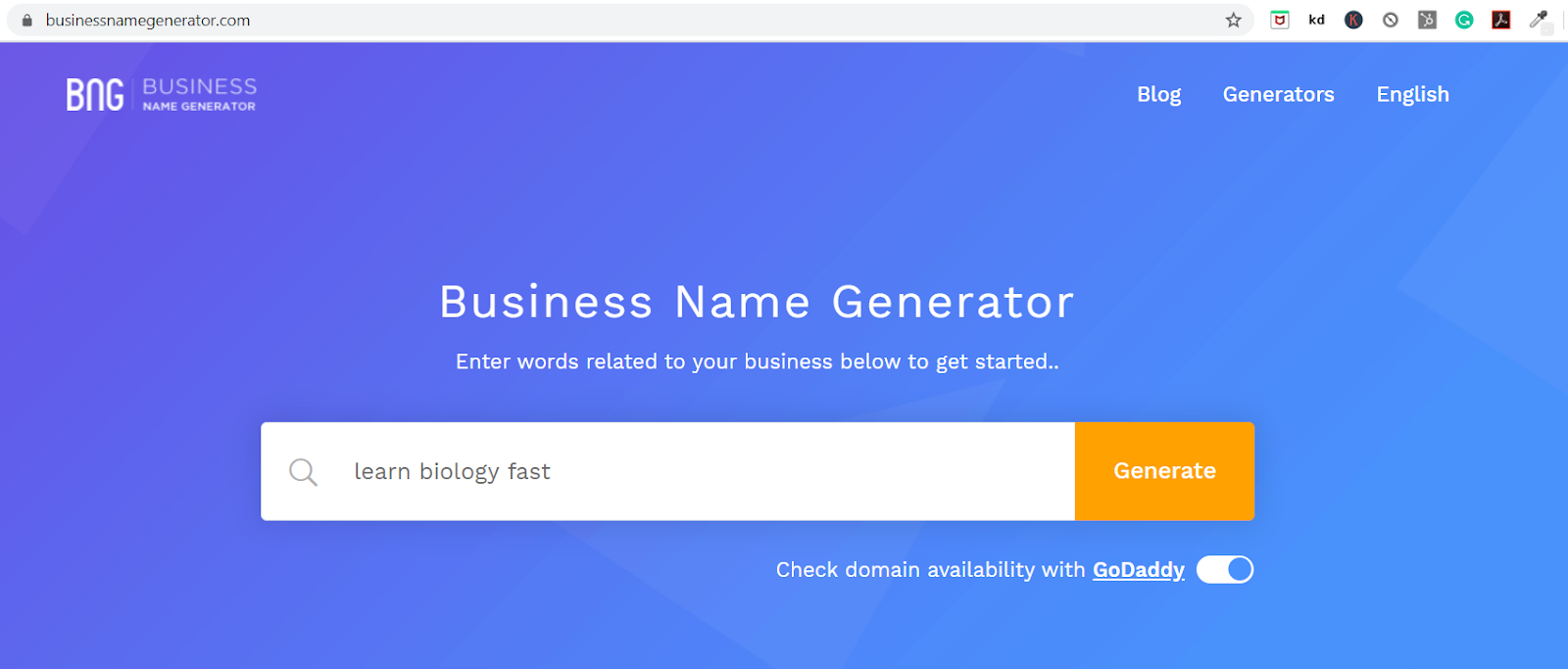using business name generator to find name for coaching centre
