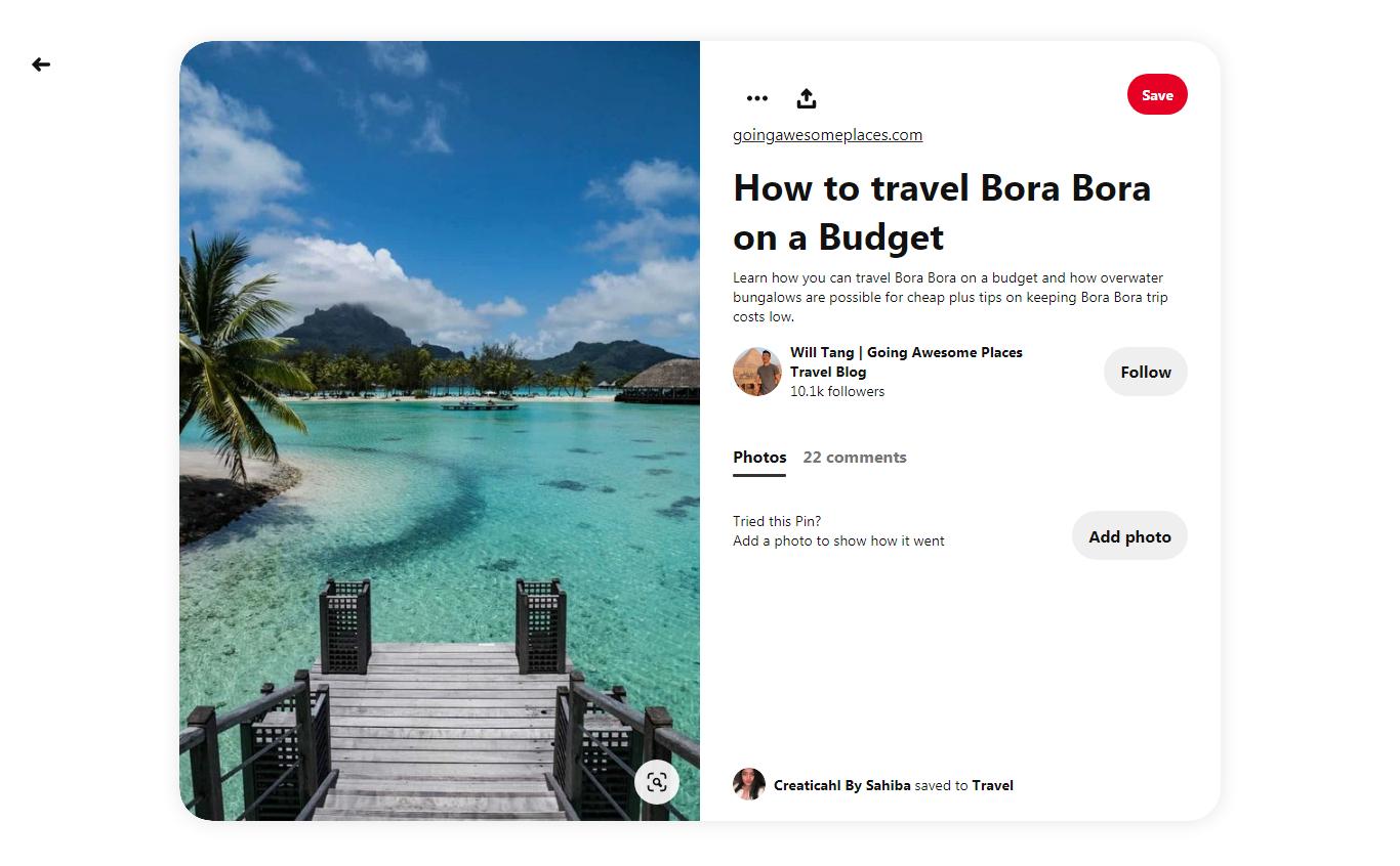 how to travel to Bora Bora on a budget Pinterest pin